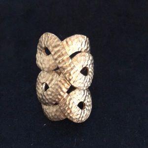 Rivka gold loop ring.